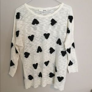 Sans Souci Sheer Heart Sweater